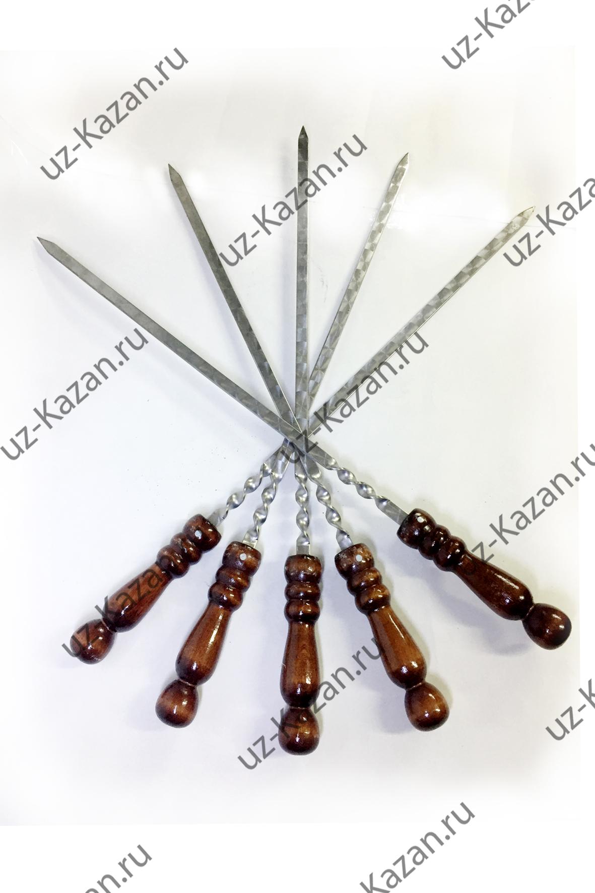 Шампура с деревянными ручками длина 45см ширина 12мм толщина 2мм 1шт 250р