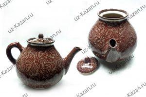 чайник коричневый
